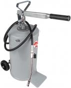 Pompa de gresare manuala cu rezervor de 16 Kg cu roti