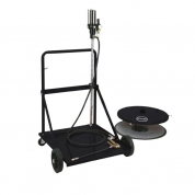 Kit pneumatic de gresat 50:1 mobil pentru butoi de 180-220 kg.
